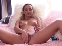 LETSDOEIT - Lusty Czech blondie Vinna Reed masturbates with