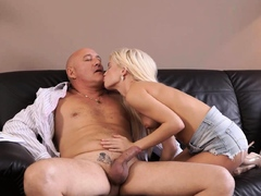 DADDY4K. Mature businessman doesnt mind fucking sons cute