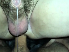 leaking cum while riding my cock