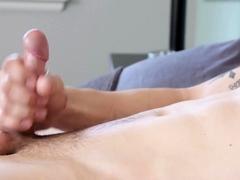 Amateur Jock Masturbates For Cumshot