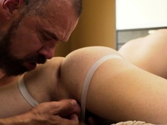 Danny tight ass gets massage and analed