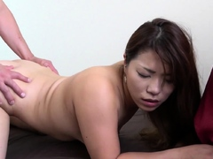 Cute Japanese MILF With Fat Pussy Gets POV Creampie