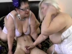 Mature grandma licked