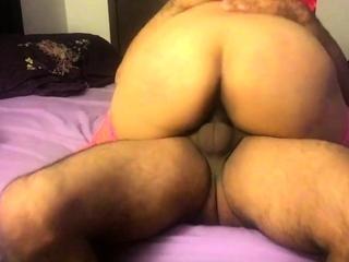 Whore Latina girl rides cock hard and cums