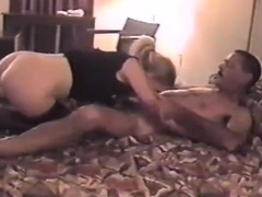 Sexy girl uses another stranger at motel