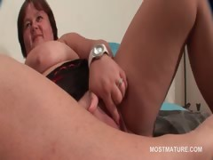 Mature Bbw Tramp Working Her Big Tits And Pussy